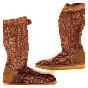UGG Stretch Cable Knit Boots
